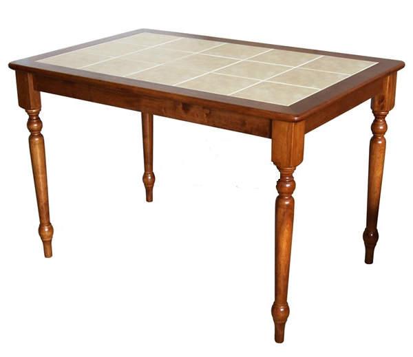 Кухонный стол деревянный с керамической плиткой 3658 в ростове-на-дону